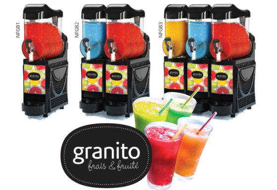 High-capacity granita machines