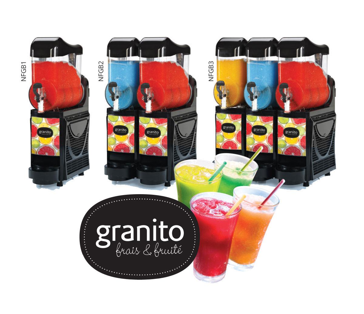High-capacity granita machines