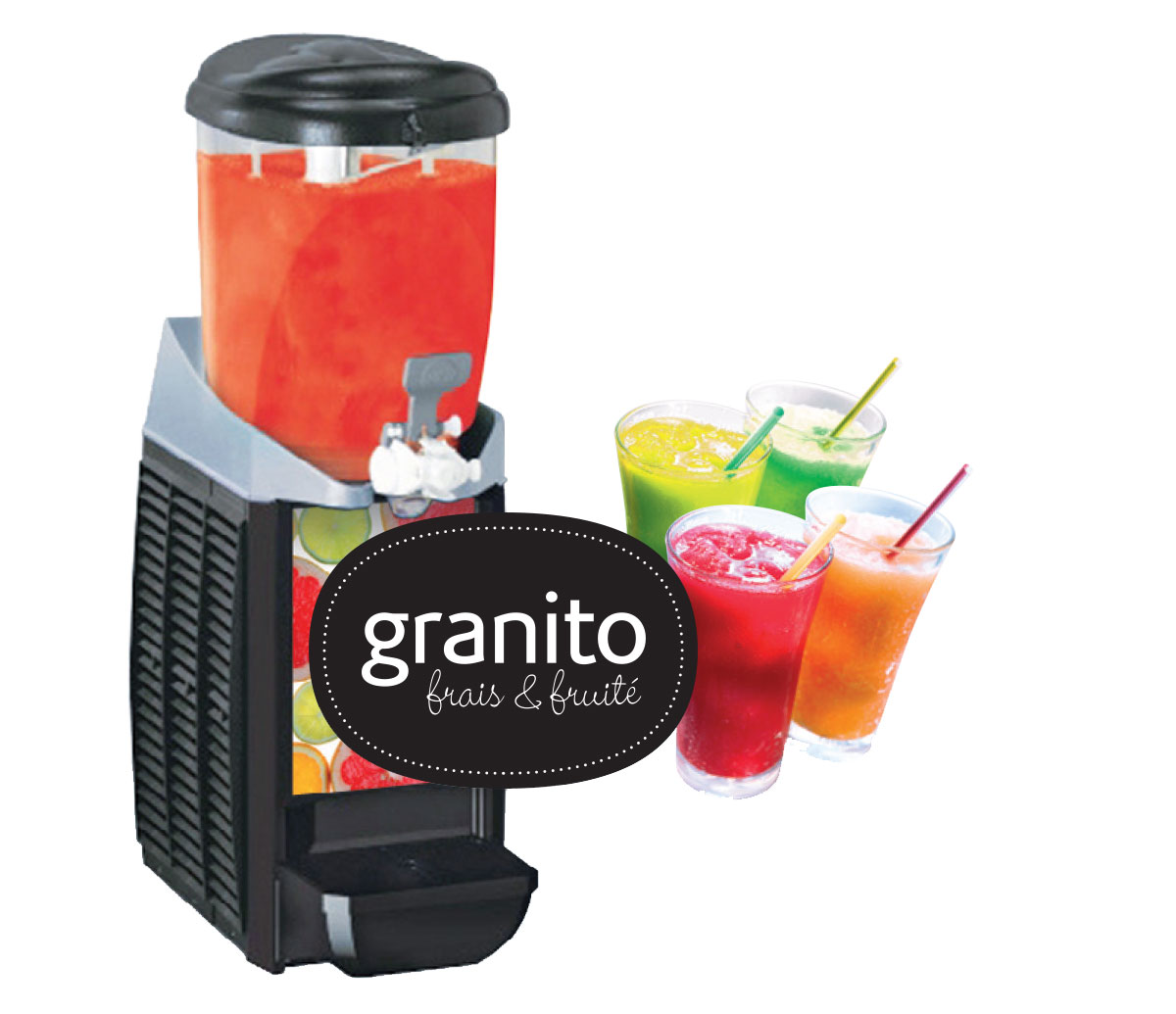Small and medium capacity granita machines